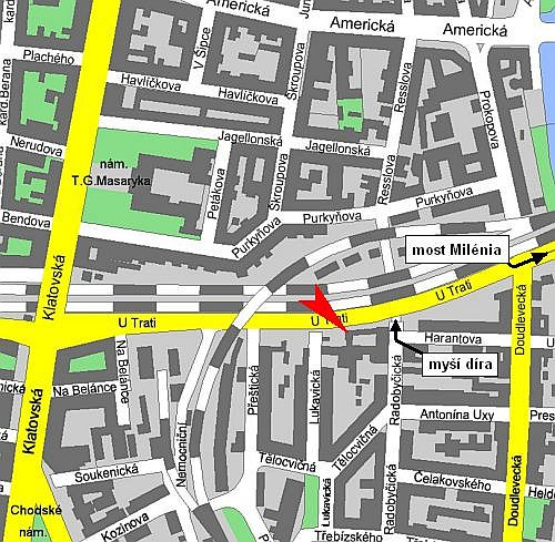 Mapa pohybové studium Plzeň
